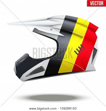 Belgium Flag on Motorcycle Helmets
