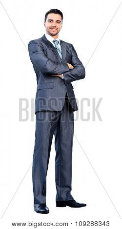 fulll lenght businessman. isolated on white