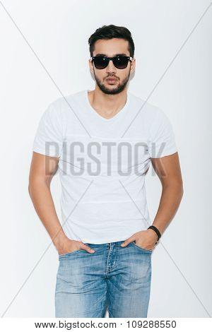 Man Feeling Confident In Sunglasses