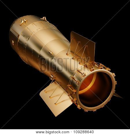 Illustration Gold Aerial Bomb. Isolated