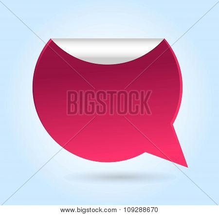 Bubble quote comma symbol badge vector