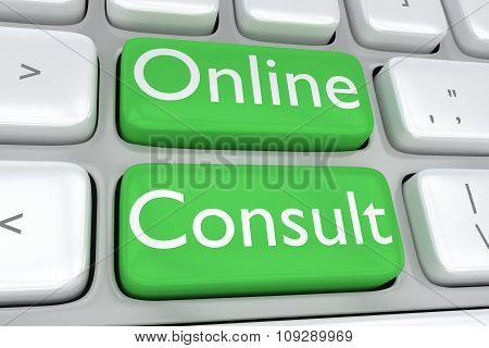 Online Consulte Concept