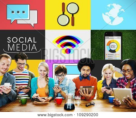 Social Media Social Network Connection Global Concept