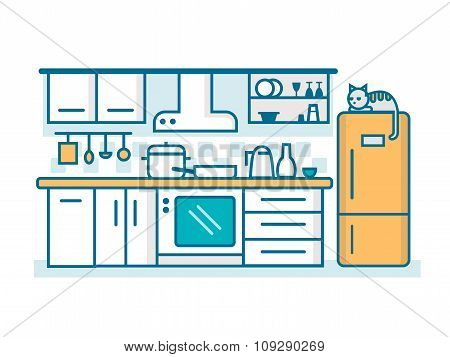 Kitchen linear flat