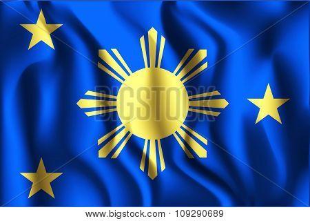 Philippines Variant Flag. Rectangular Shape Icon