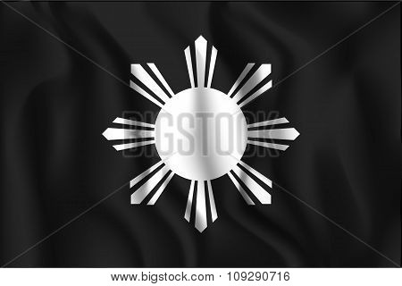 Philippines Variant Flag Wavy. Rectangular Shape Icon