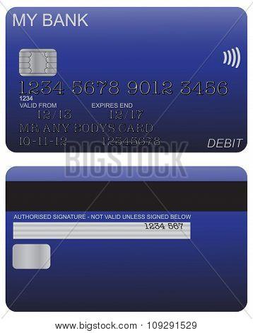 Debit Card Detail Blue