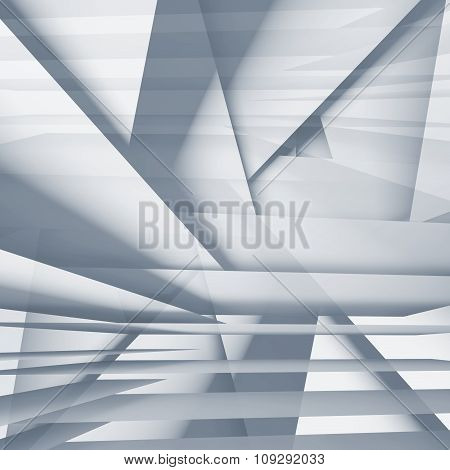 Abstract Square Digital Background, Light Blue 3D
