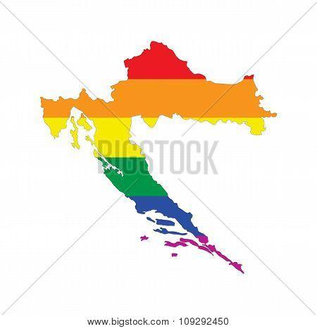 Croatia Gay Map