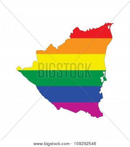 Nicaragua Gay Map