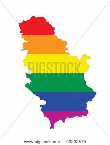 Serbia Gay Map