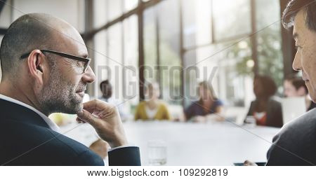 Group of Business People Discussing Office Concept