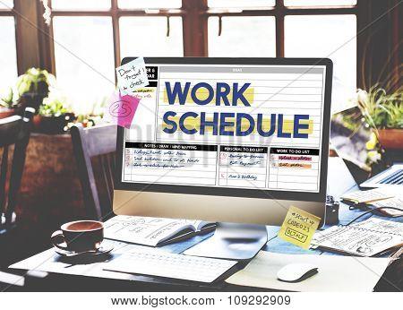 Work Schedule Management Organization Concept