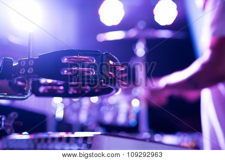 Tambourine On The Stage