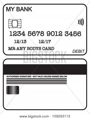 Debit Card Black And White