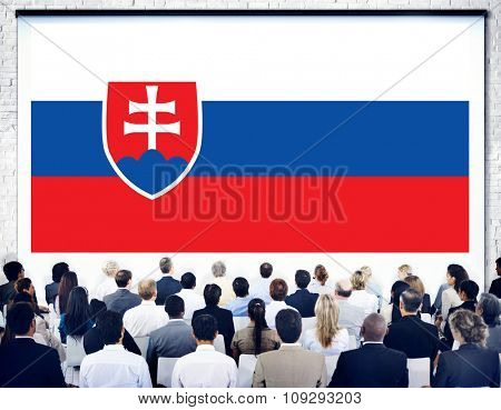 Slovakia National Flag Government Freedom LIberty Concept