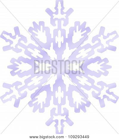 Abstract Vector Snowflake In Blue Tones.