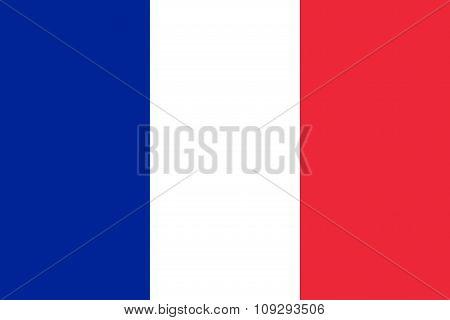 France Flag Stylish Design And Simple Illustration