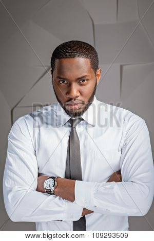 Concept for afro american businessman