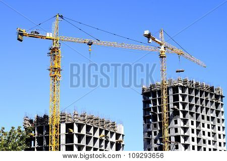 construction of a  residential  buildings