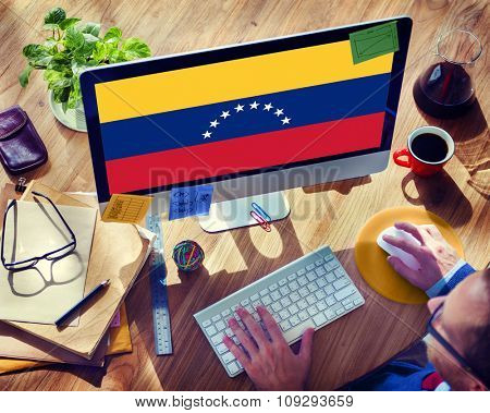 Venezuela National Flag Government Freedom LIberty Concept