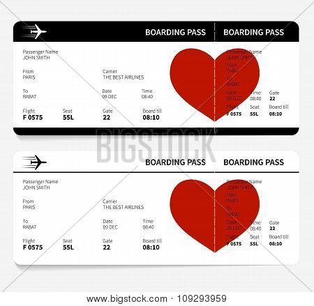 heart on ticket