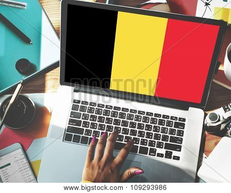 Belgium Flag Country Nationality Liberty Concept