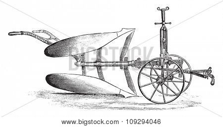 Howard Ordinary Double-Brabant, vintage engraved illustration. Industrial encyclopedia E.-O. Lami - 1875.