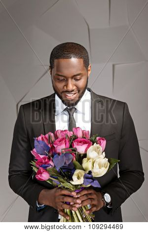 Concept for afro american stylish man