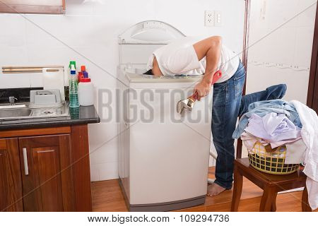 Repairing washing machine