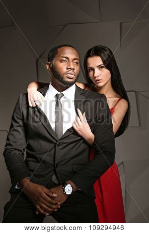 Concept for mixed race couple