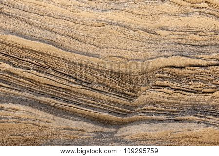 Texture Of Golden Lines Of Loose Rock