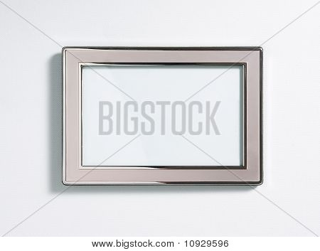 Silver Picture Frame, Isolated On White