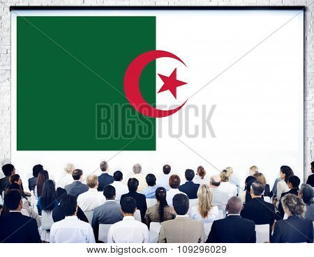 Algeria National Flag Government Freedom Seminar Concept