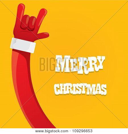 Santa Claus rock n roll icon vector illustration.
