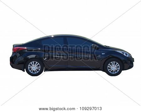 Black car isolated on white