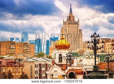 Skyline Of Moscow, Russian Federation