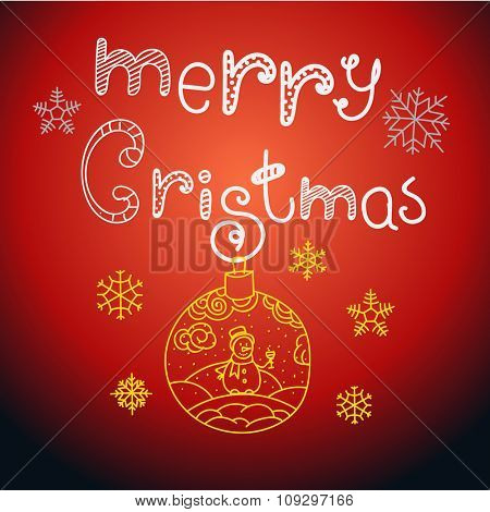 Merry Christmas. Vector design elements