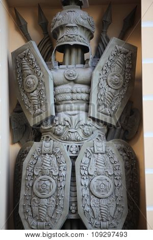 warrior antique military armor