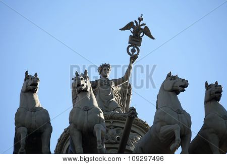 Nike on the triumphal chariot