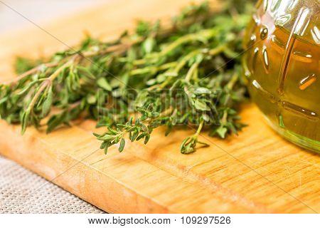 Bunch Of Fresh Organic Thyme