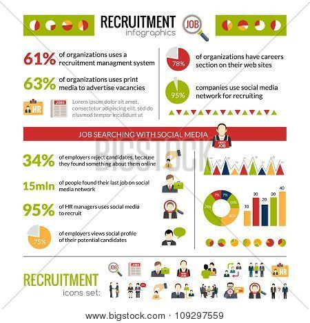 Recruitment Infographics Set