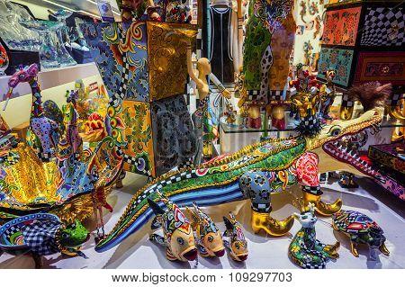 Souvenir Shop In Barcelona
