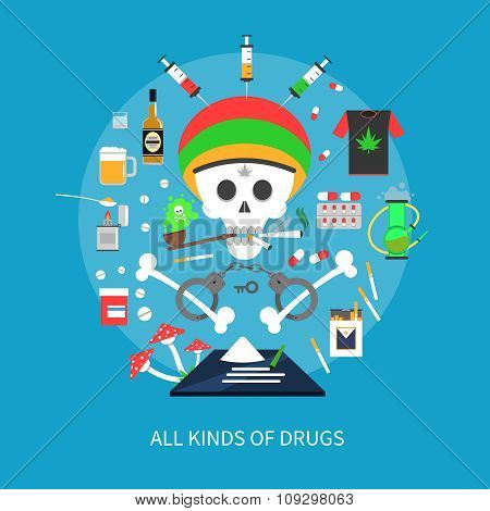 All Kinds Of Drugs Concept