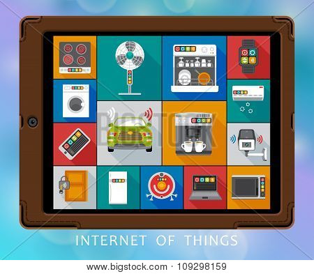 Internet of things flat icons set