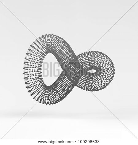 Infinity symbol. Abstract 3d design element, emblem, icon. Vector illustration.