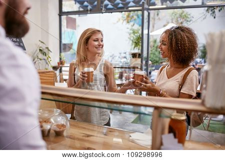 Female Friends Having Coffee