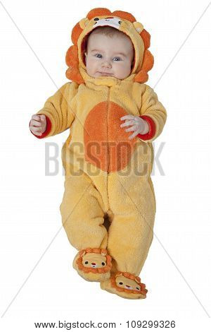 Baby Boy In The Lion Suit