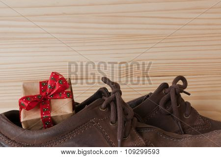 Christmas present in shoes