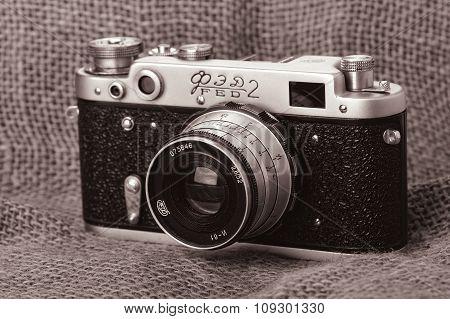 Russian Soviet Vintage Camera FED 2